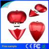 De plastic Aandrijving van de Flits van de Vorm USB van het Hart van de Giften van het Huwelijk Rode 4GB 8GB