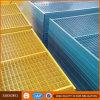 los 6 ' paneles revestidos durables de la cerca del Temp del PVC de x10
