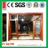 Ventana y puerta de aluminio Finished del perfil del grano de madera