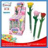 Neues lustiges Plastikrosen-Blumen-Feder-Spielzeug mit Süßigkeit