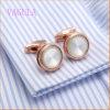 De Hete Luxe van de Manchetten van het Huwelijk van de Verkoop VAGULA om Franse Cufflinks van het Overhemd nam Gouden Manchetknopen toe