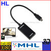 Mhl HDMI een Female aan Micro USB 2.0 Adapter