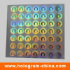 Impresión olográfica del arco iris de la etiqueta engomada del holograma de la matriz de PUNTO
