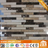 別荘Exterior Wall Cream MarfilおよびEmperador Marble Mosaic (S855001)
