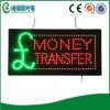 Exhibición de acrílico del tablero de la muestra de neón de la transferencia monetaria del LED (HSM0116)