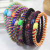 Lady Fashion Plastic Bead Spiral Elastic Rubber Hair Bands (JE1584)