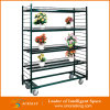Wheelsの軽量Shelving Rack Iron Flower Cart
