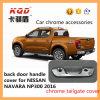 Nouvelle couverture de poignée de chrome de porte à rabattement arrière d'arrivée pour la couverture de poignée de porte arrière d'arrière d'ABS d'Accessorie de camion pick-up de kits de corps de Nissan Navara Np300