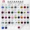 Tarjeta del color: Piedra cristalina de la parte posterior plana para la decoración de la joyería/de la ropa