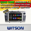 Carro DVD GPS do Android 5.1 de Witson para Toyota Avensis 2008-2013 com sustentação do Internet DVR da ROM WiFi 3G do chipset 1080P 16g (A5585)