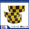 Los colores del doble diseño de la rejilla de PVC de 5 cm de cinta reflectante-enrejado cristalino de Cine