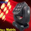 LED de la etapa 9 * 15W 4in1 móvil de la viga matriz de efectos de luz