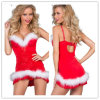 La Navidad Cosplay rojo viste el vestido atractivo de lujo de las mujeres