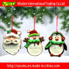 O Natal da argila do polímero Ornaments as árvores de Natal que penduram a decoração