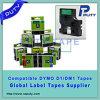 De Zwarte van de Cassette van het Etiket van Dymo op Gele Band 53718 van 24mm D1