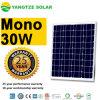 Panneau solaire mono d'OIN 12V 25W 30wp d'UL de la CE de TUV