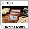 Заключенная контракт зернистая картинная рамка Rose твердой древесины деревянная для украшения