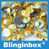 Bergkristal van de Moeilijke situatie van de Kleur van Flatback van het Kristal van de Lijm van de hoogste Kwaliteit het Duitse Intensieve Citroengele Hete voor de Importeurs van het Bergkristal van de Kleding