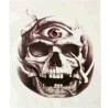 etiqueta engomada temporal impermeable del tatuaje del ojo rojo del cráneo de la manera