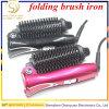 Ferro de ondulação cerâmico elétrico iónico Heated de dobramento do Straightener do cabelo da escova do portable da venda 2017 curso quente melhor do mini