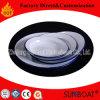 Placa de cena del esmalte de Sunboat/placa/insignia del alimento de los utensilios de cocina modificada para requisitos particulares/vajilla