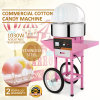 De commerciële Elektrische Machine van de Gesponnen suiker met Kar en Dekking