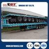 4 Flatbed Aanhangwagen van de Container van het Ontwerp van assen de Lichtgewicht Op zwaar werk berekende