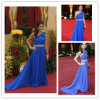 Royal Blue шифон одно плечо Вечернее платье (XZ469)