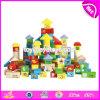 A venda por atacado personaliza os brinquedos de madeira educacionais W13b038 da construção dos miúdos de 120 partes