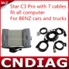 Mb Star C3 PRO con 7 Cables Fit All Computer per Benz Cars e Trucks