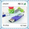 Unidad flash USB del eslabón giratorio colorido