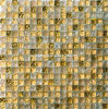 Mosaico de cristal agrietado del azulejo de mosaico del oro (HGM345)