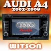 Witson Double DIN Car DVD para Audi A4 / S4 / RS4 (2002-2008)