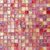 ピンクの虹色のガラスモザイク・タイル(CFR603)