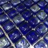 La glace ouvre la mosaïque de bleu de cobalt de tuile