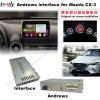 Rectángulo androide de la navegación del GPS del interfaz de los multimedia de la mejora HD del coche para 14-16 Mazda Cx-3