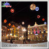 3D Christmas Holiday PVC Garland LED Ball String Lights
