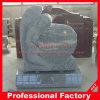 Headstone di scultura superiore dei memoriali della scultura di angelo del granito grigio