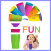 Uau Cup Spill Free 360 Even Seal de BPA Free Multi Colors Spill Proof como Seen em Cup para Kids (TV122)