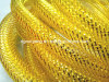 Oro amarillo de Deco tubo flexible de malla para envolver regalos