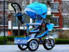 Велосипед младенца младенца вагонетки трицикла прогулочной коляски вращая