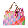 ばね16のFashion Colorful Weave PU Lady HandbagsかBag (MB019)