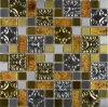 De gemengde Tegel van het Mozaïek van het Glas van het Kristal van het Roestvrij staal van de Kleur Metaal Gemengde (FYMG027)
