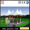 Garantía al aire libre de la cubierta 10year de la tienda PVDF de la casa de la cortina de la estación de gasolina del gas