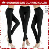 Pantalon personnalisé de yoga de plaine de noir de vente en gros de qualité pour les femmes (ELTFLI-41)