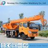 Camionnette de livraison hydraulique de machines de construction petite grue de camion de 8 tonnes à vendre