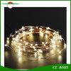 Luz solar da corda do fio de cobre da paisagem 100LED de Decotation das árvores de Natal com luz colorida branca branca/morna do diodo emissor de luz para opcional