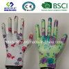 Gants protecteurs de travail de sûreté de travail de gant enduits par nitriles de jardin