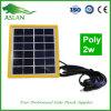 pilha solar Monocrystalline de Minisolar da lâmpada do painel 2W-10W solar