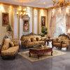 Софа ткани с деревянными шкафами для живущий мебели комнаты